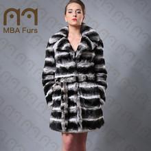 MBA Furs rex chinchilla fur coat for women