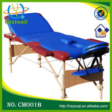 wholesale portable adjustable position leather massage bed/ massage table