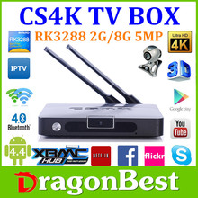 Quad Core Android 4.4 XBMC with Built-in Webcam Camera Bluetooth TV Box CS4K model 2G/8G for skype camera
