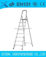 Aluminium safety platform ladder,portable Step stool with handrail