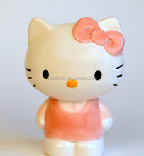 customized ceramic hello kitty coin bank piggy bank girl gift