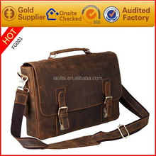 Factory price low MOQ high quality fancy 100& leather handbag 2015 trend mens handbag for importer