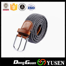 newest unisex Woven elastic belt & fashion Elastic canvas belt