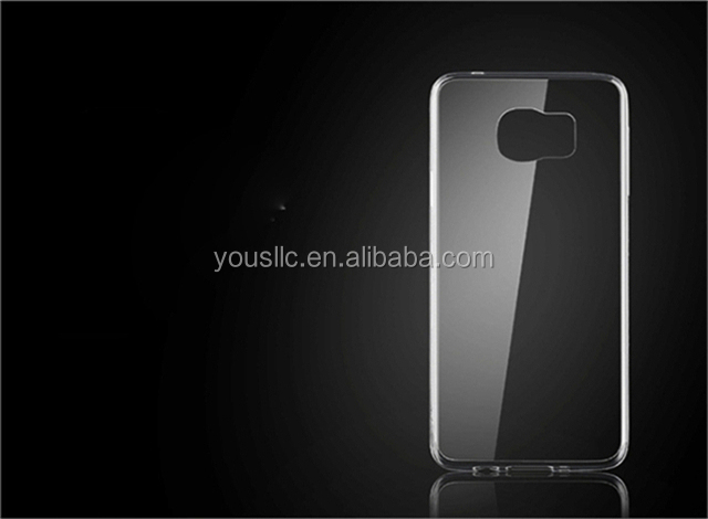 high quality crystal clear transparent soft silicon tpu Case for Samsung Galaxy S6 Edge G9200