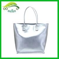 Euro series of fashion bags genuine leather handbags silver handbags, genuine leather handbag italy