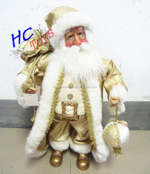 2015 New Christmas Stuffed Santa Claus Figurine Ornament Doll