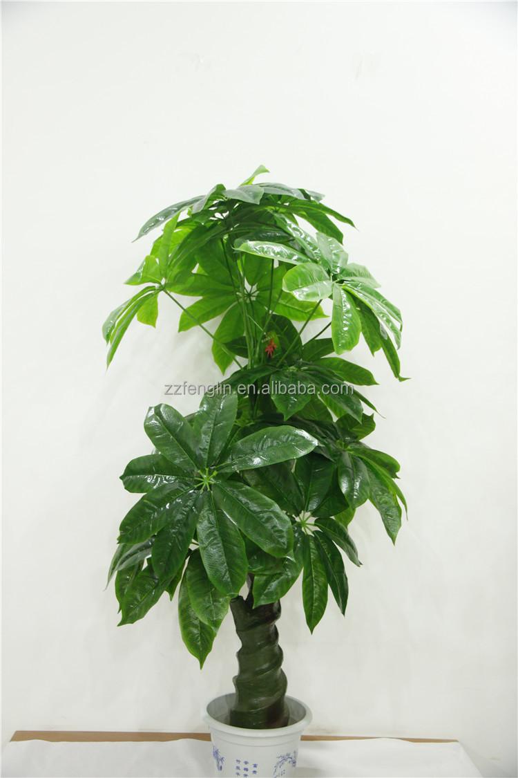Pas cher gros artificielle usine de pachira arbre pour for Plante artificielle pour exterieur pas cher