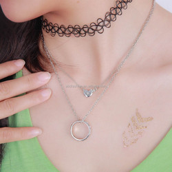 Star Heart Charm Necklace Ring Necklace Women Necklace Jewelry Set