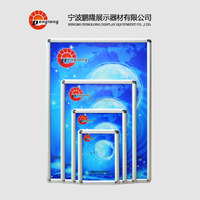 Sign Poster Frame, 25mm aluminum profile frame round corner wall mounted snap frame
