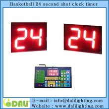 LED outdoor basketball shot clock with timer