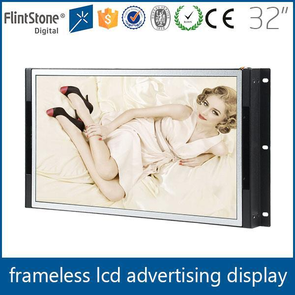 Heavy duty lcd frameless monitor 32 inch,32 inch open cell lcd display panel flexible mount led advert lcd panel