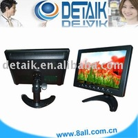 "7 inch LCD PC monitors VGA/AV/Touch screen optional"" small size pc monitor"