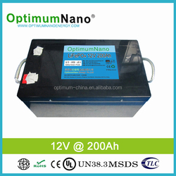 High quality rechargeable lithium battery solar 12v 200AH battery with BMS or PCM