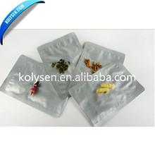 mini resealable aluminum foil zip lock bags