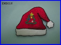 New Hot Popular Christmas Hat Embroidery Design Iron - On For T shirt
