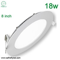 factory price 8 inch 18w small round led flat panel lighting 6000k 3 years warranty
