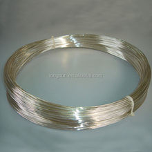 soft Silver plated wire for electrical contacts used in switch and relays