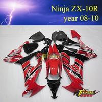 High quality Aftermarket ABS Custom Motorcycle body kits for kawasaki ninja 636 ZX10R 2008 2009 2010