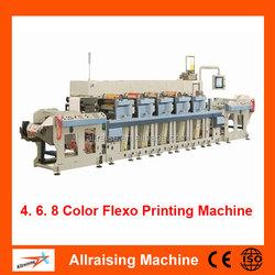 4 Colour, 6 Color Plastic Bag Flexo Printing Machine