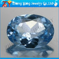 Oval corte espinela sintética de piedra, suelto azul zafiro piedras sintéticas espinela
