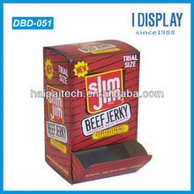 POP cardboard dump bin retail display for Beef jerky