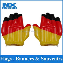 Country flag inflatable hand wholesale