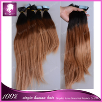 """16""""-26"""" 40pcs/pack Tape Hair Extensions Human Indian Remy Adhesive Glue in 100% Human Hair 3 Colors Skin Weft Hair 100g/Set"""