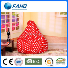 wholesale red with white dot relaxing office bean bag chairs