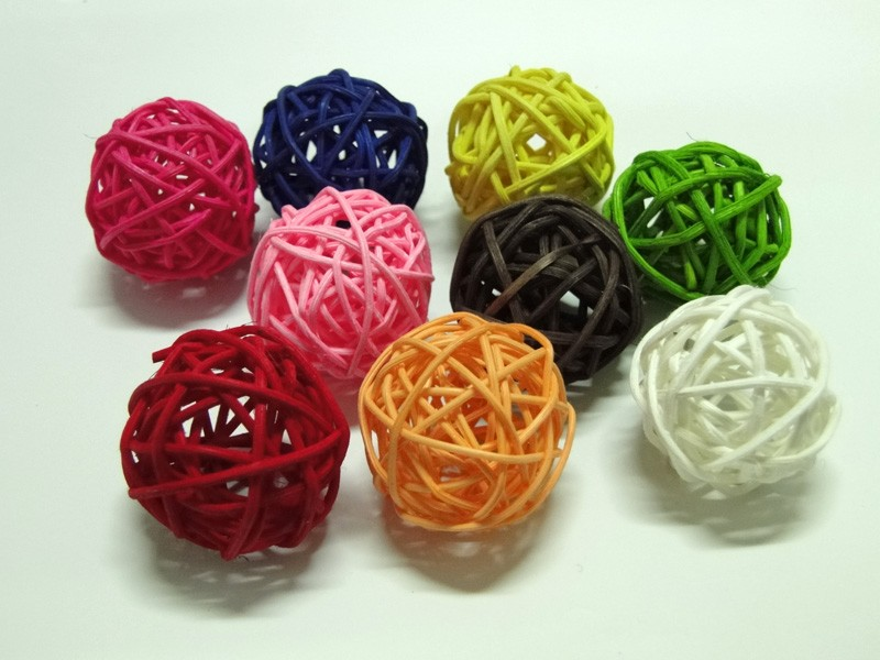 Green Rattan Ball For Decoration For Wholesaledecorative Balls For Classy Rattan Decorative Balls