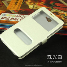 Leather cellphone case/window view flip for NOTE2 N7100