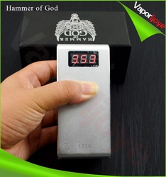 2015 New Products full mechanical hammer of god box mod