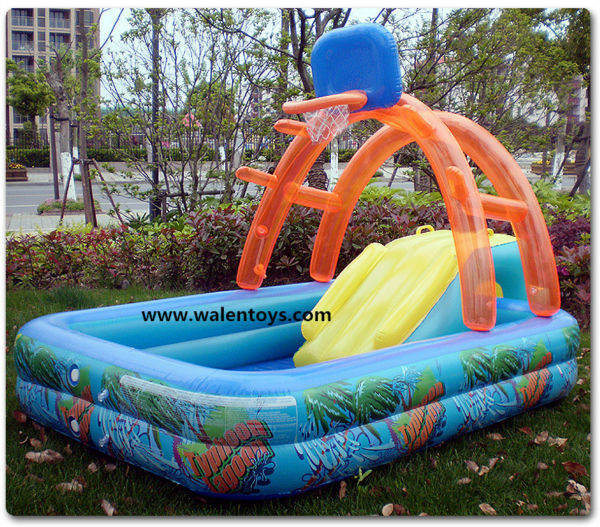 Plastic Swimming Pool With SlideKids Slide
