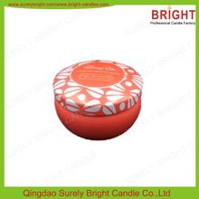 New Color Printing Natural Soy Wax Tin Candle With High Quality Soy Candle Wax