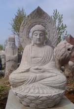 Sitting Carved large Stone Buddha