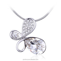 Inspirational jewelry wholesale ,925 silver white crystal necklace
