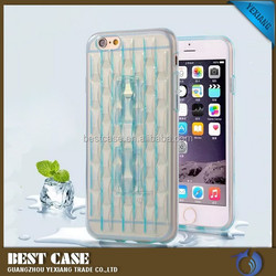 China supplier soft gel mobile phone case for iphone 6 clear back cover with kickstand