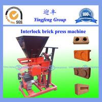 China best quality ECO1-25 clay soil interlock brick make machine