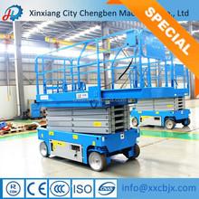 Chengben máquinas móvel telescópica plataforma de trabalho aéreo com vários capacidade de trabalho