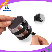 360 degree rotation volume control camera lens bluetooth speaker with TF card slot