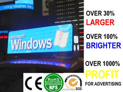 hd led panels taxi top, taxi roof light box, neon taxi sign