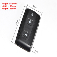 TD car key universal car remote key for toyota Smart Prius 3 button with Panice buttoncase smart key with emergency key blade