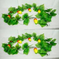 factory cheap artificial mango fruit vine festival decorative artificial fruit vine garlands on sale