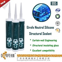 clear gule curtain wall RTV UV Resistant silicone sealant special color
