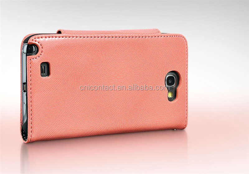 Two Mobile Phones Leather Cases For Samsung Galaxy Note2