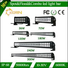 Good news!!!Lowest price 300W 240W 180W 120W 72W 36W 10-30V IP68 waterproof dot approved led light bar