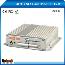 Hard Disk Double SD Card Car Mobile DVR,4ch Mobile DVR