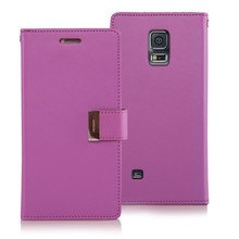 stylish mobile phone back cover for samsung galaxy s5 mercury rich diary