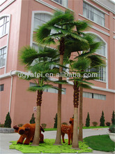 artificial washingtonia palm tree with fake bark/costume to tree/artificial outdoor palm trees