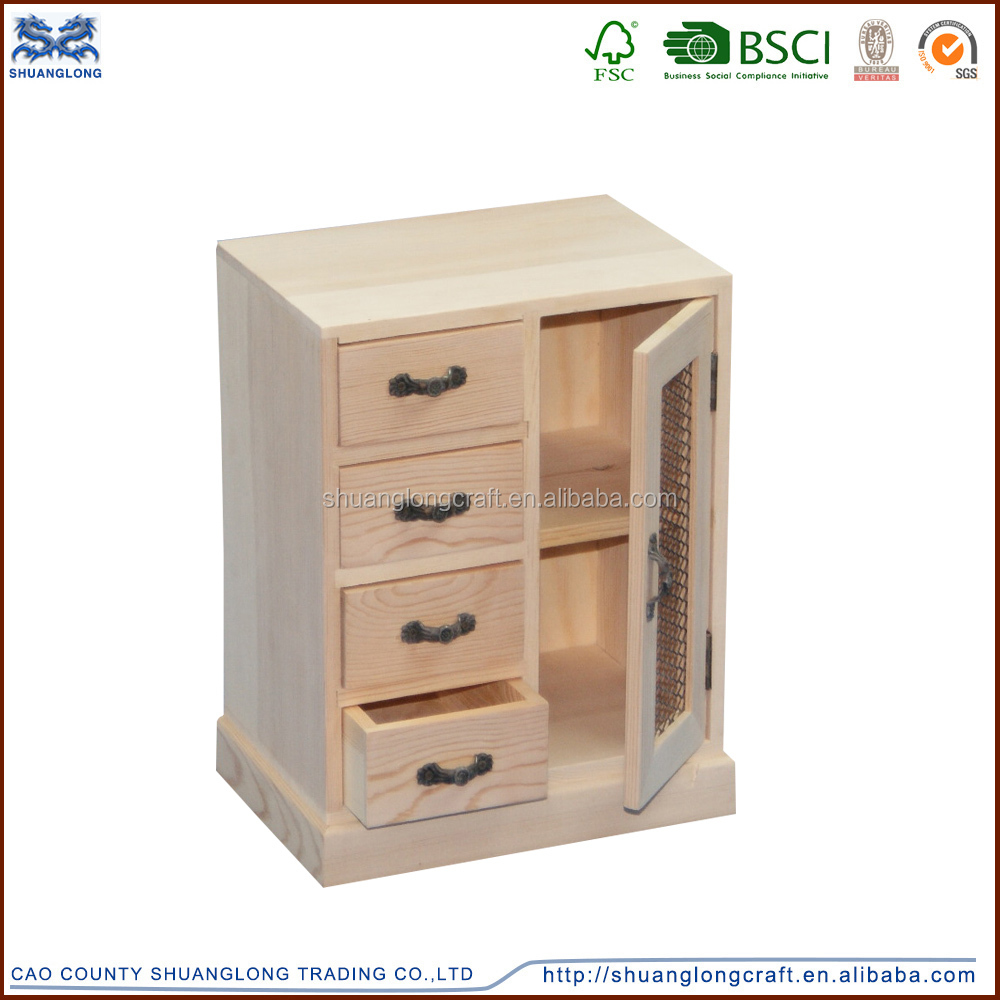 Home Decor Small Wooden Storage Cabinets For Living Room Decoration Kids Wooden Toy Storage