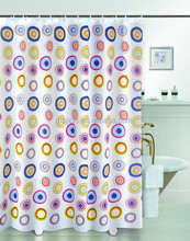 polyester Shower Curtain with metal eyelet